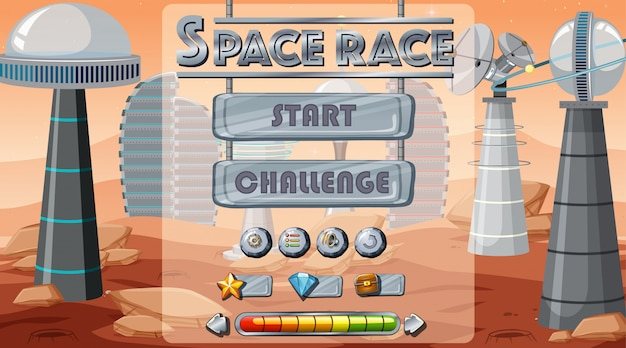 Space game start achtergrond