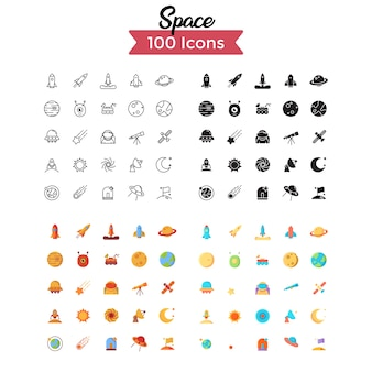 Space icon set.