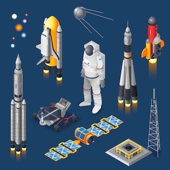 Space isometric set