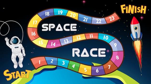 Space race bordspel achtergrond
