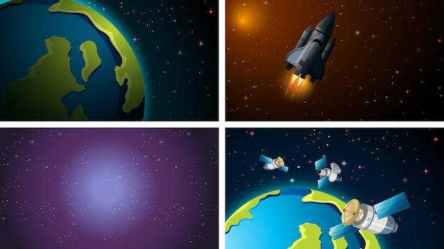 Space scene set