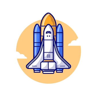Space shuttle vliegtuig lancering illustratie