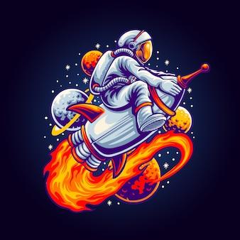 Space tour illustratie