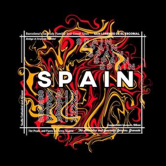 Spanje tshirt grafisch ontwerp in abstracte stijl vectorillustratie