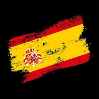 Spanje vlag grunge borstel achtergrond. oude borstel vlag vectorillustratie. abstract concept van nationale achtergrond.