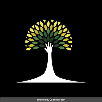 Sparen het milieu logo