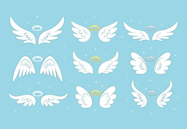Sparkle engel fee vleugels met gouden nimbus