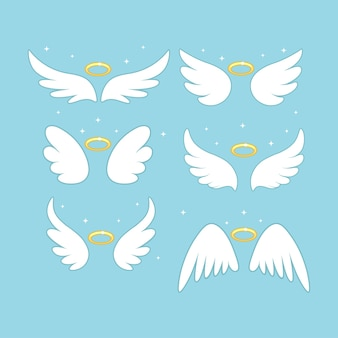 Sparkle engel feeënvleugels met gouden nimbus