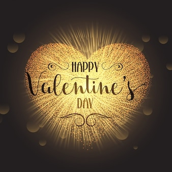 Sparkle hart ontwerp voor valentijnsdag