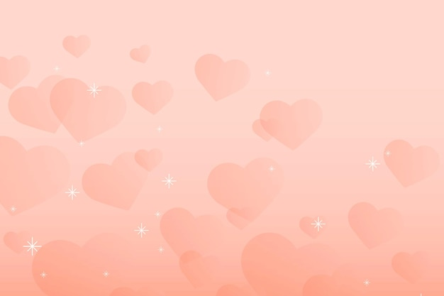 Sparkle hart patroon vector perzik achtergrond
