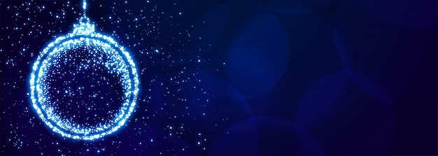 Sparkle kerstbal voor xmas festival banner
