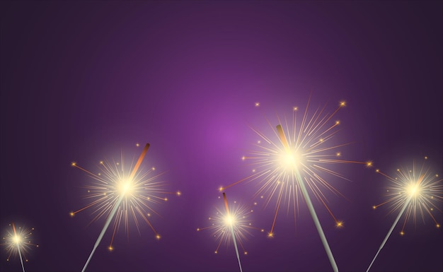Sparkler licht.