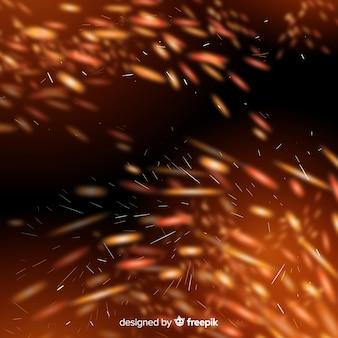 Sparkly vuureffect met transparante achtergrond