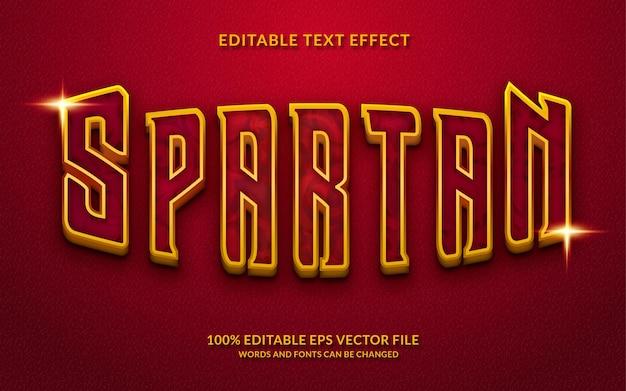 Spartaans bewerkbaar teksteffect