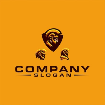 Spartaans logo-ontwerp
