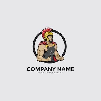 Spartaans mascotte logo
