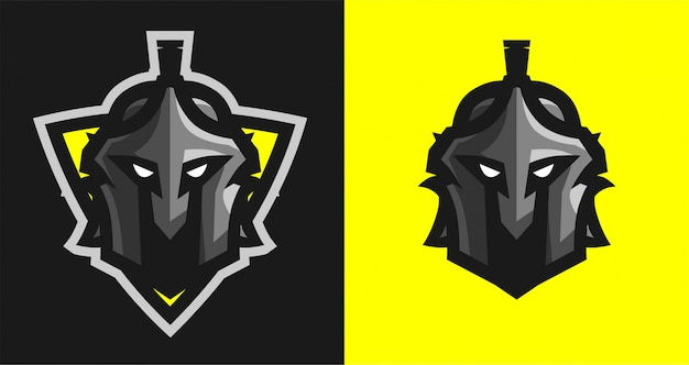 Spartaans met schild e-sport logo