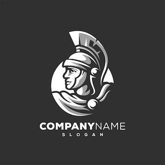 Spartaans ontwerp van het krijgerlogo