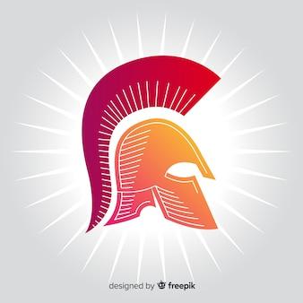 Spartaanse helm achtergrond