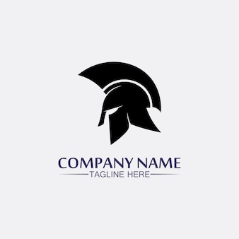 Spartaanse helm, gladiator logo sjabloon