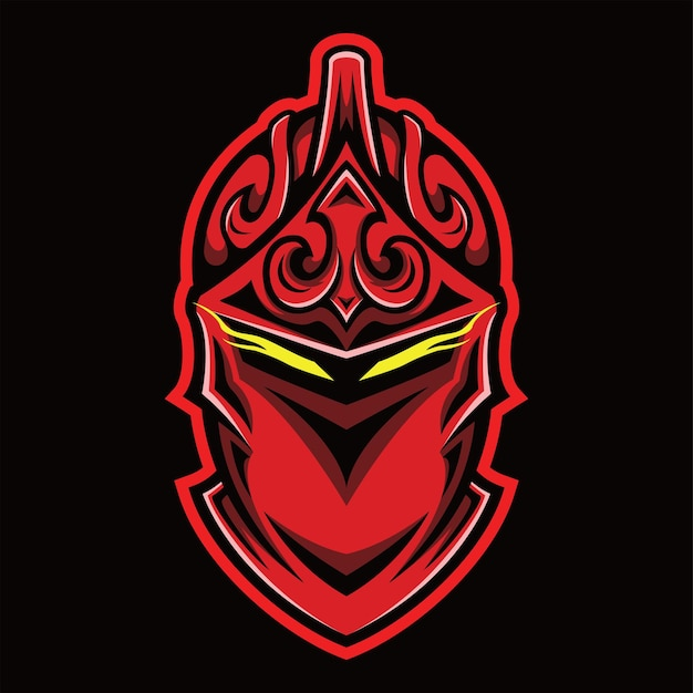 Spartaanse khight hoofd met ornament gratis vector
