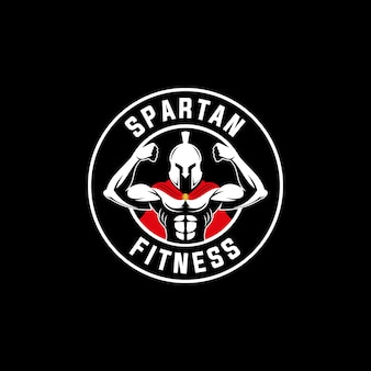 Spartaanse krijger sport fitness logo embleem