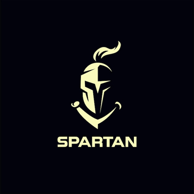 Spartaanse ridderhelm logo ontwerp