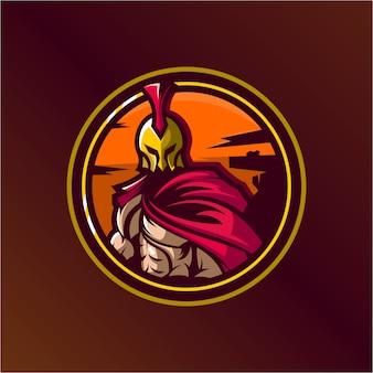 Spartan logo ontwerp illustratie premium