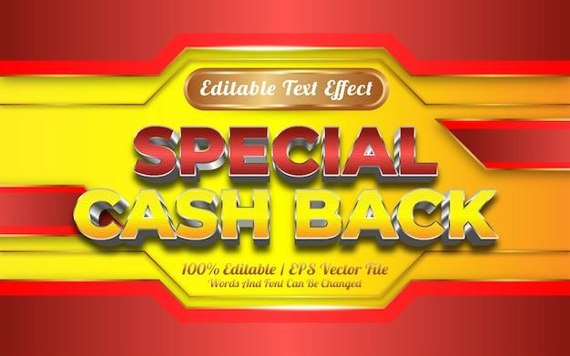 Speciaal cashback nieuwjaarsteksteffect