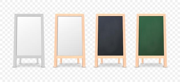 Speciaal menu aankondiging bord pictogrammenset geïsoleerd