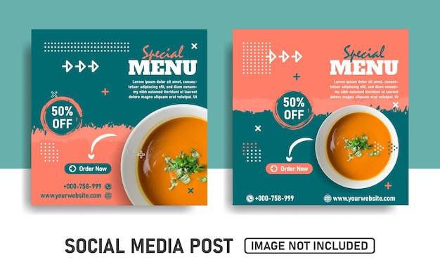 Speciaal menu social media post