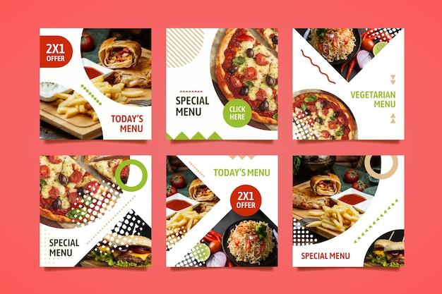Speciaal menu sociale media plaatsen