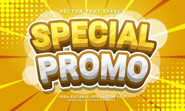 Speciaal promo 3d-teksteffect, bewerkbare tekststijl en geschikt voor promotieverkoop