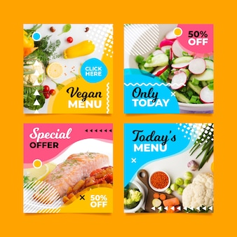 Speciaal vegan menu sociale media post