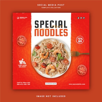 Special noodles social media post