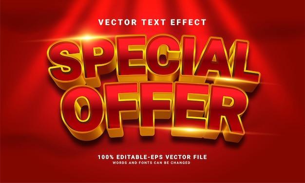 Speciale aanbieding 3d-teksteffect, bewerkbare tekststijl en geschikt voor promotieverkoop