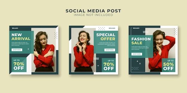 Speciale aanbieding bannersjabloon voor promotie van sociale media