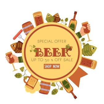 Speciale aanbieding bier verkoop banner