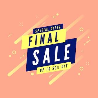 Speciale aanbieding definitieve verkoop tot 50% korting op banner.