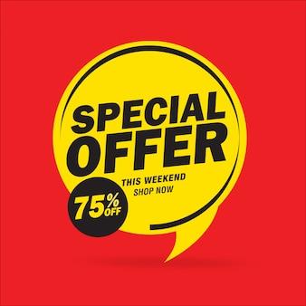 Speciale aanbieding en prijskaartjesontwerp ontwerpen