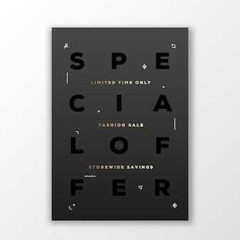 Speciale aanbieding fashion sale poster, kaart of flyer-sjabloon.