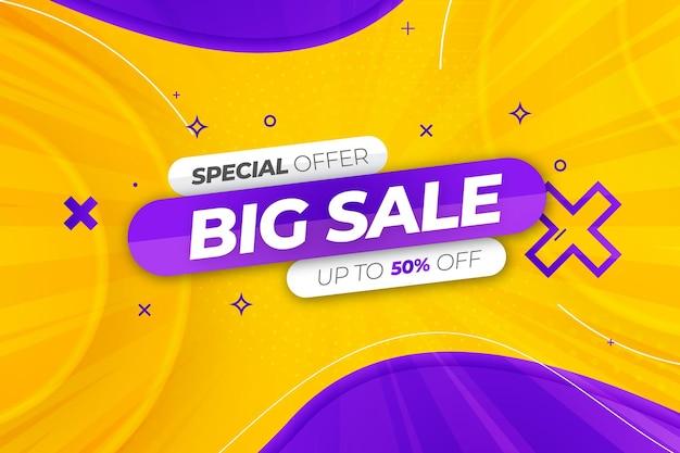 Speciale aanbieding grote verkoop kleurrijke achtergrond