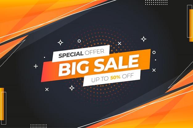 Speciale aanbieding grote verkoopachtergrond