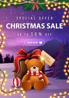 Speciale aanbieding, kerstuitverkoop