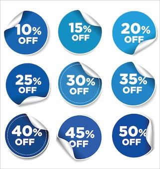Speciale aanbieding mega-verkoop blauwe sticker