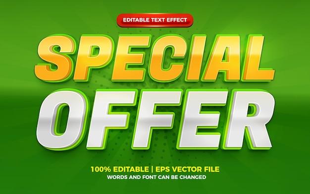 Speciale aanbieding modern groen geel 3d bewerkbaar teksteffect