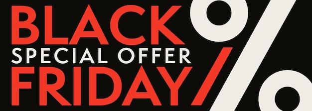 Speciale aanbieding op black friday kortingsverkoop-sjabloon voor spandoek.