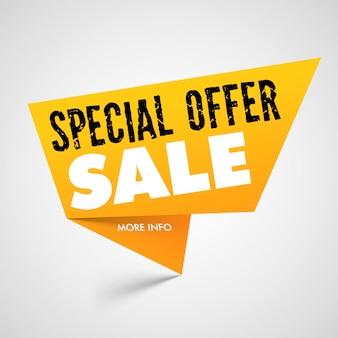 Speciale aanbieding verkoop banner