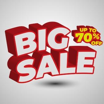 Speciale aanbieding verkoop design effect, bewerkbaar en eenvoudig op maat, voor promotie-advertenties