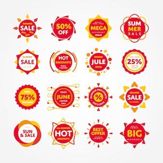 Speciale aanbieding verkoop tag als zon